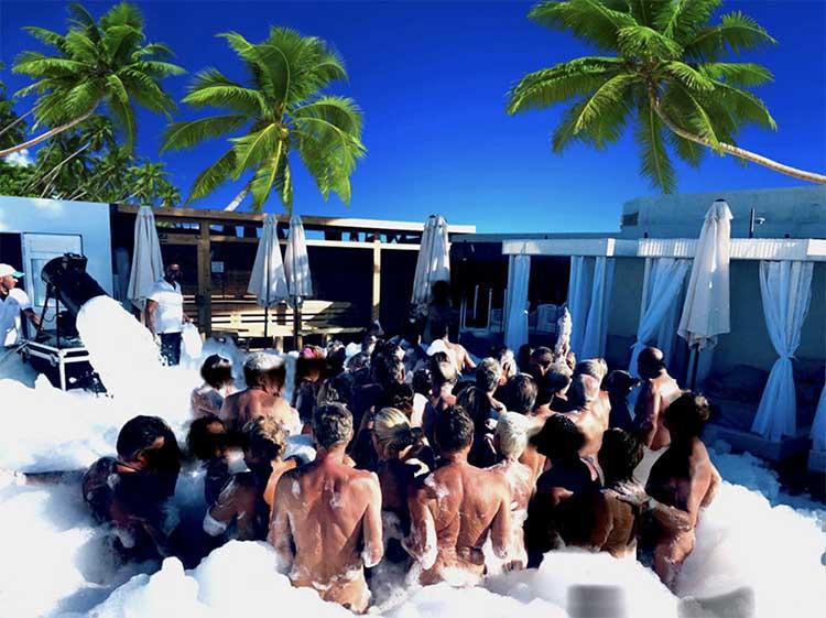 foam party at the venus star resort in gran canaria