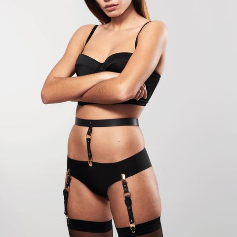 Belt underwear and stockings